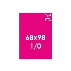 Plakate auf Neonpapier - Format 68x98 -