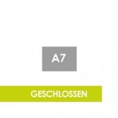 Querformat DIN A7 - Klammerheftung