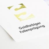 Visitenkarten mit goldfarbiger